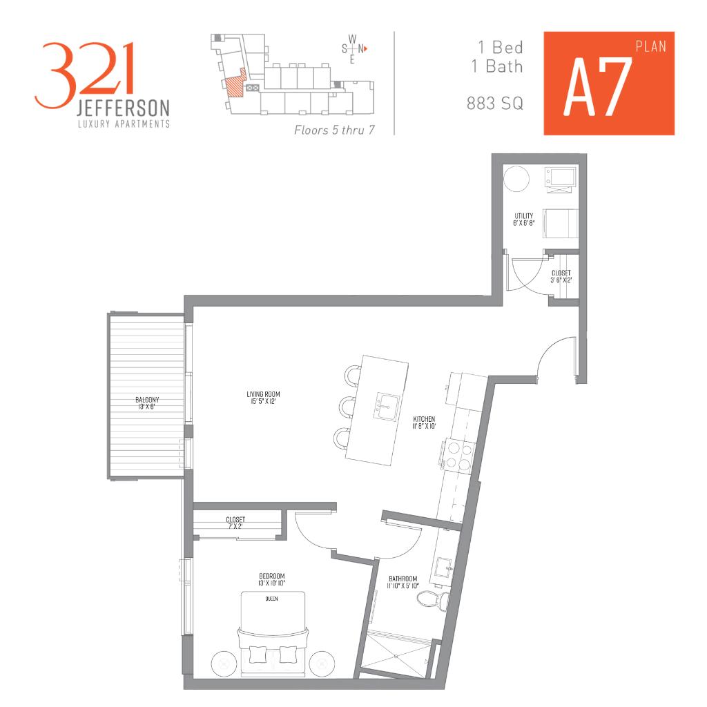 321 Jefferson a7 Floor Plan