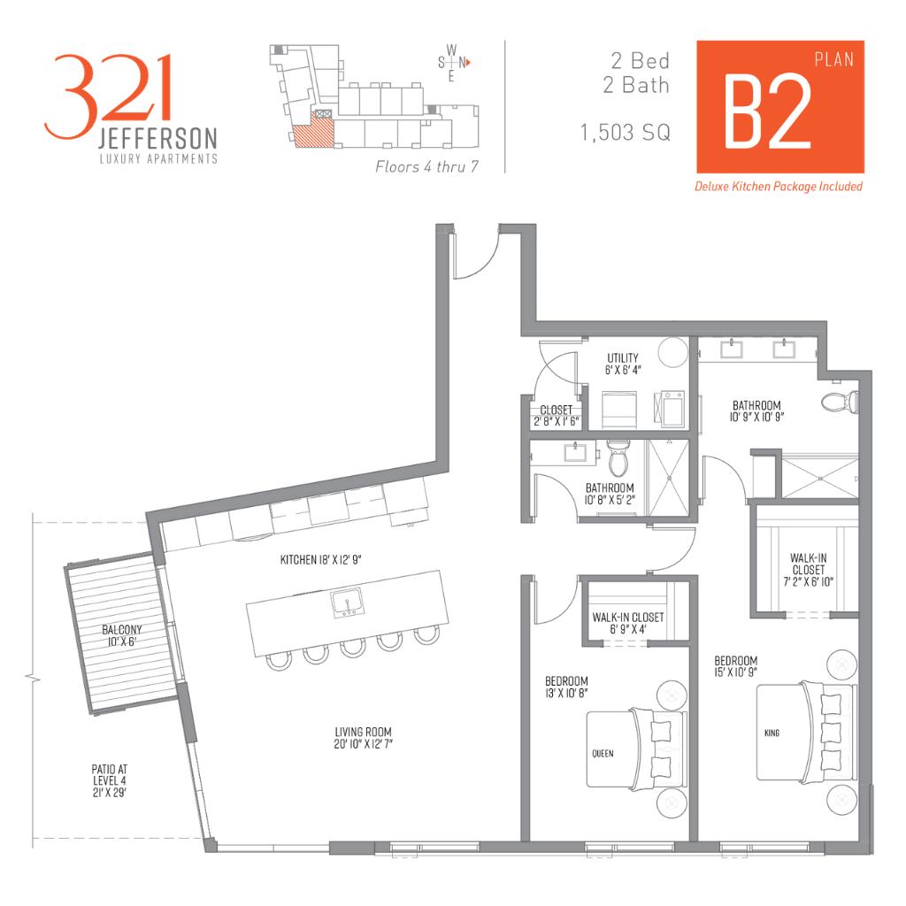 321 Jefferson b2 Floor Plan