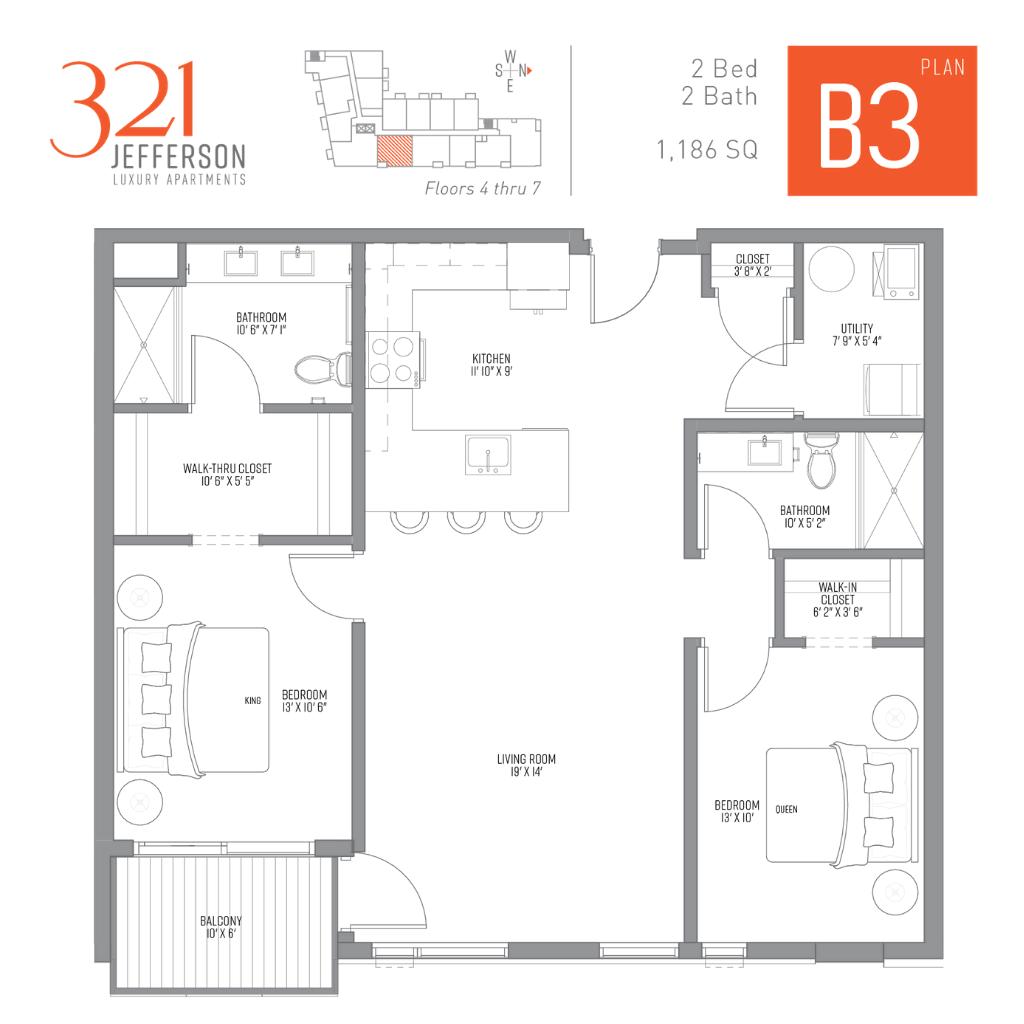 321 Jefferson b3 Floor Plan