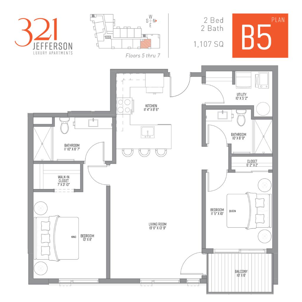 321 Jefferson b5 Floor Plan