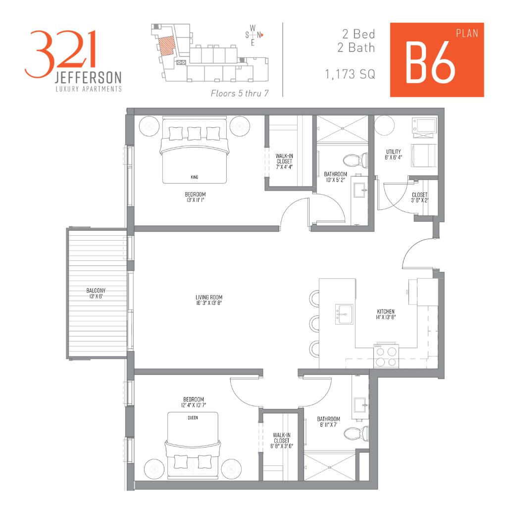 321 Jefferson b6 Floor Plan