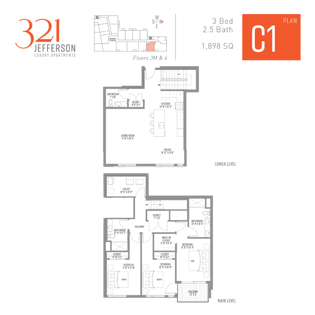 321 Jefferson c1 Floor Plan