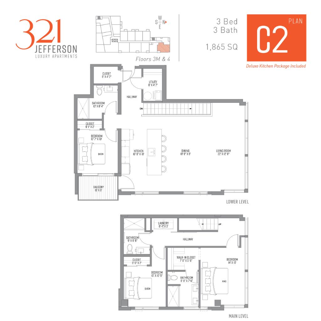 321 Jefferson c2 Floor Plan