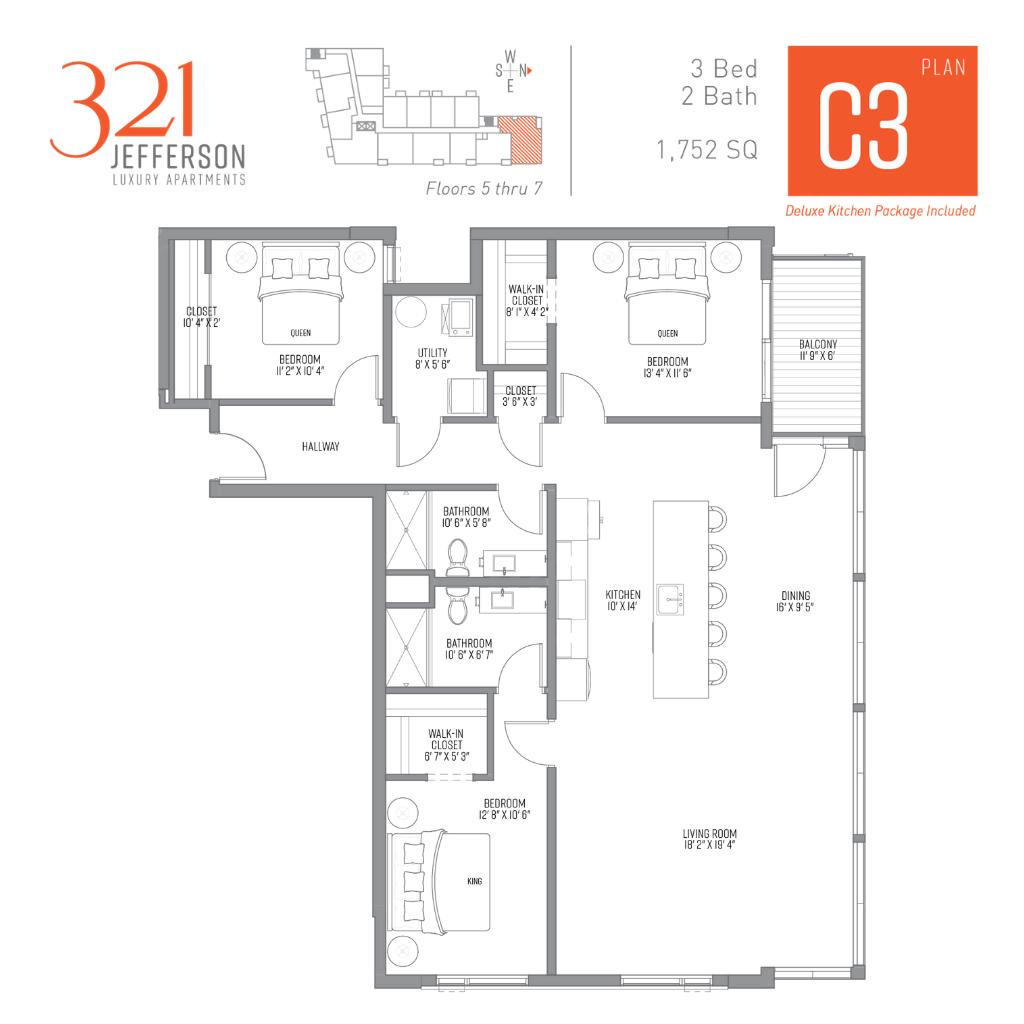 321 Jefferson c3 Floor Plan