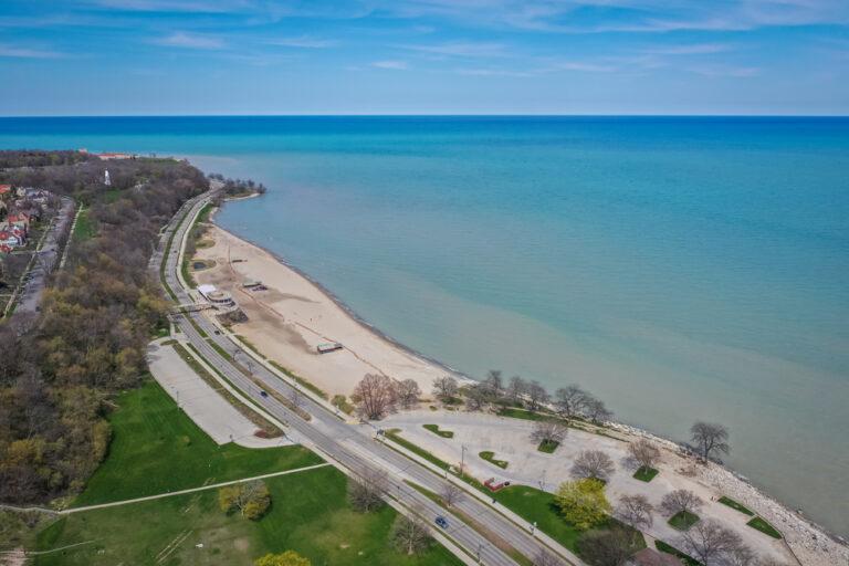 Milwaukee beach view Lake Michigan