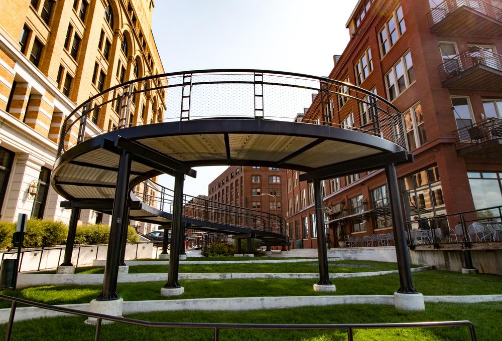 Third Ward artistic walkway park setting